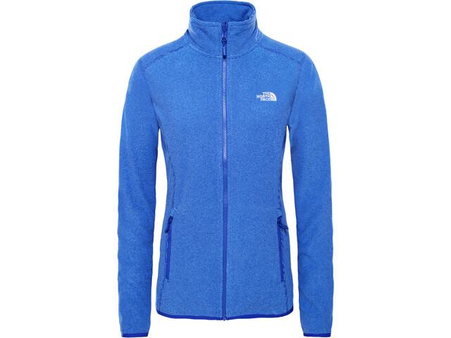 The North Face 100 Glacier Chaqueta con cremallera completa Mujer, lapis blue stripe